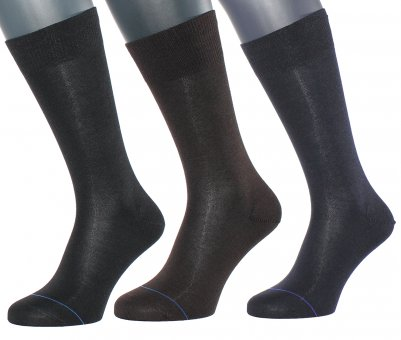 "Men's ""high-tech"" business socks in three colors"