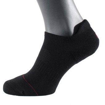 Men's low cut ankle socks cotton mix black