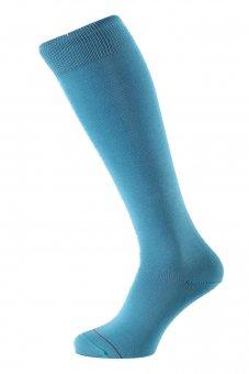Men's knee-high socks Fil d'Ecosse light blue