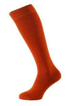 Men's knee-high socks Fil d'Ecosse orange
