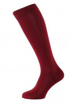 Men's knee-high socks Fil d'Ecosse ruby-colored