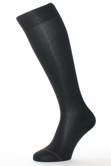 Men's knee-high socks Fil d'Ecosse black