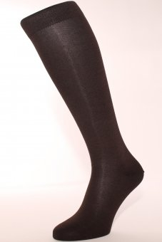 Men's knee-high business socks with cashmere inside - brown