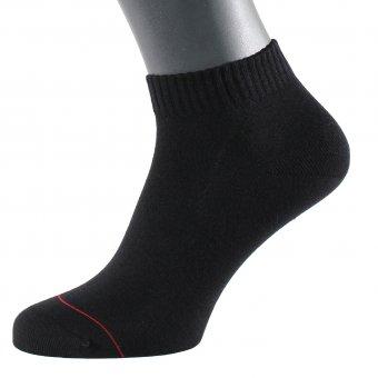 Men's ankle socks with embedded silver fiber black