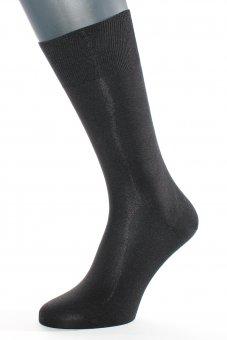 Men's elegant business socks made of pure silk black