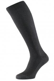 Unisex knee-high compression socks with silver fiber grey