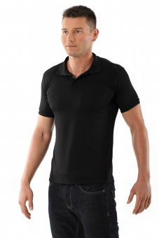 Men's functional polo shirt black