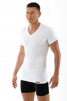 Business shape undershirt short sleeves white