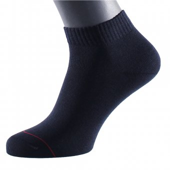 Men's ankle socks with embedded silver fiber navy-blue 42-44