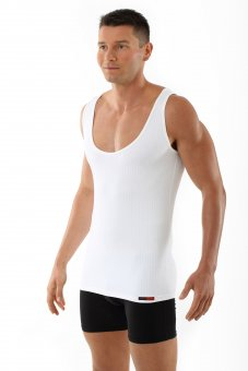 "Men's microfiber tank top ""Sylt"" white"