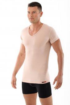 "Skin coloured/ Nude color men's  ""invisible"" undershirt v-neck ""Hamburg"""
