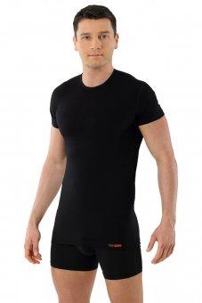 "Men's undershirt ""München"" - crew neck and short sleeves black"