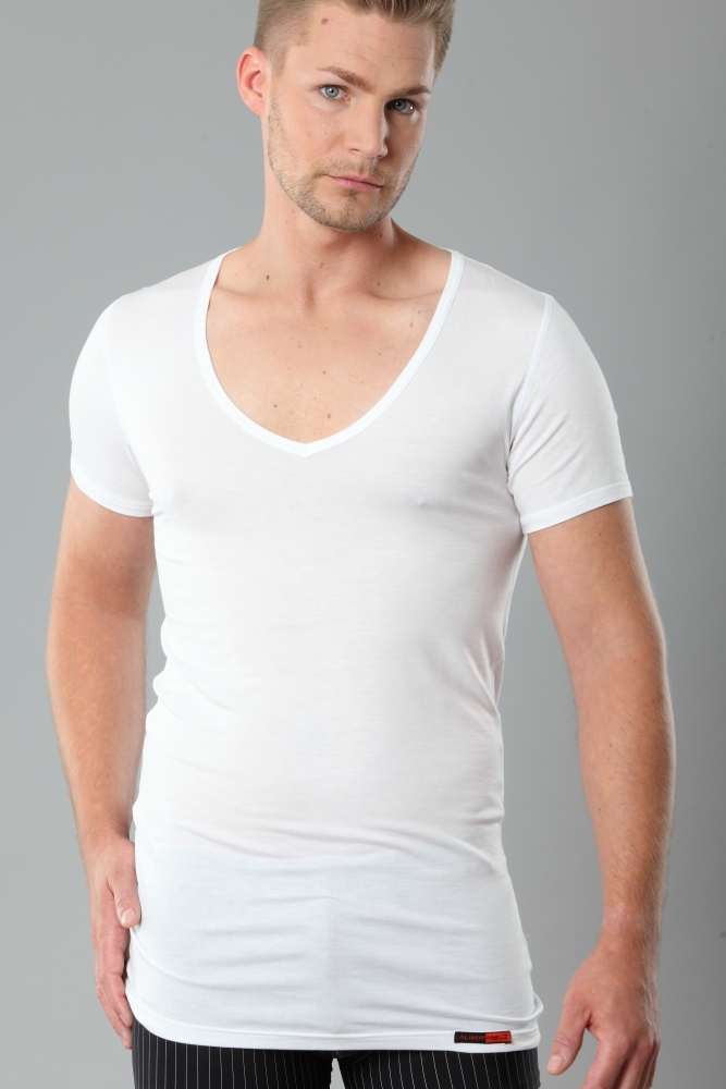 Undershirts. Undershirts are more than just undergarments because they're up to the task of making a complete fashion statement. By their very nature, they're ideal for wearing beneath rough fabrics, but they're more than that.