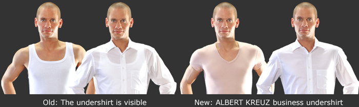 The invisible undershirt - the perfect solution under a business shirt!