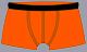 Trunk-Shorts orange